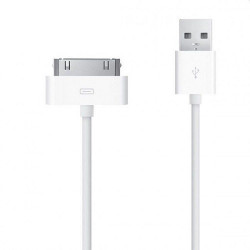 Cable data USB blanc...